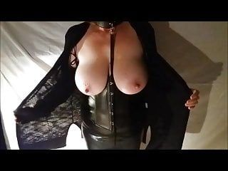 Large tit wife in slavery gear